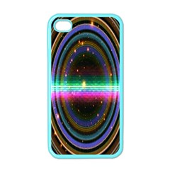 Spectrum Space Line Rainbow Hole Apple Iphone 4 Case (color) by Mariart