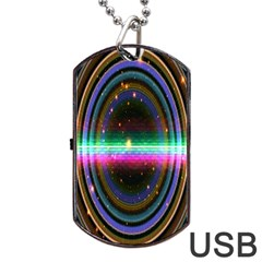 Spectrum Space Line Rainbow Hole Dog Tag Usb Flash (two Sides)