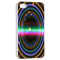 Spectrum Space Line Rainbow Hole Apple Iphone 4/4s Seamless Case (white) by Mariart