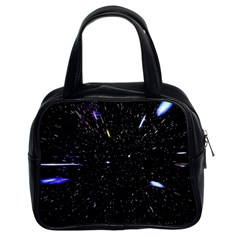 Space Warp Speed Hyperspace Through Starfield Nebula Space Star Hole Galaxy Classic Handbags (2 Sides) by Mariart