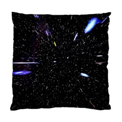 Space Warp Speed Hyperspace Through Starfield Nebula Space Star Hole Galaxy Standard Cushion Case (two Sides) by Mariart