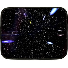 Space Warp Speed Hyperspace Through Starfield Nebula Space Star Hole Galaxy Double Sided Fleece Blanket (mini)  by Mariart