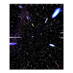 Space Warp Speed Hyperspace Through Starfield Nebula Space Star Hole Galaxy Shower Curtain 60  X 72  (medium)  by Mariart