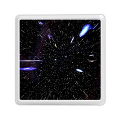 Space Warp Speed Hyperspace Through Starfield Nebula Space Star Hole Galaxy Memory Card Reader (square)  by Mariart