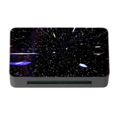 Space Warp Speed Hyperspace Through Starfield Nebula Space Star Hole Galaxy Memory Card Reader With Cf by Mariart