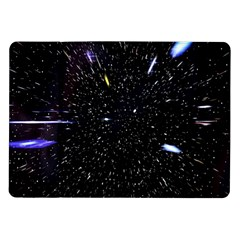 Space Warp Speed Hyperspace Through Starfield Nebula Space Star Hole Galaxy Samsung Galaxy Tab 10 1  P7500 Flip Case by Mariart