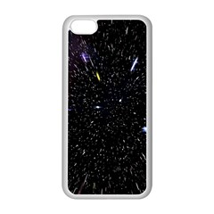 Space Warp Speed Hyperspace Through Starfield Nebula Space Star Hole Galaxy Apple Iphone 5c Seamless Case (white) by Mariart