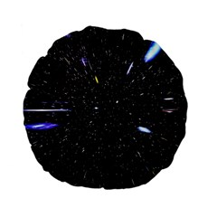 Space Warp Speed Hyperspace Through Starfield Nebula Space Star Hole Galaxy Standard 15  Premium Flano Round Cushions by Mariart