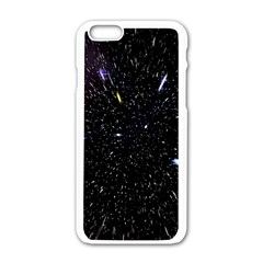 Space Warp Speed Hyperspace Through Starfield Nebula Space Star Hole Galaxy Apple Iphone 6/6s White Enamel Case by Mariart