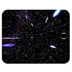 Space Warp Speed Hyperspace Through Starfield Nebula Space Star Hole Galaxy Double Sided Flano Blanket (medium)  by Mariart