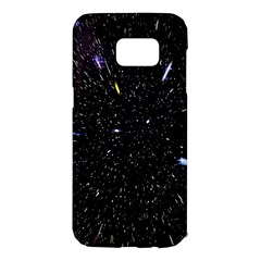 Space Warp Speed Hyperspace Through Starfield Nebula Space Star Hole Galaxy Samsung Galaxy S7 Edge Hardshell Case by Mariart