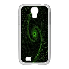 Space Green Hypnotizing Tunnel Animation Hole Polka Green Samsung Galaxy S4 I9500/ I9505 Case (white) by Mariart