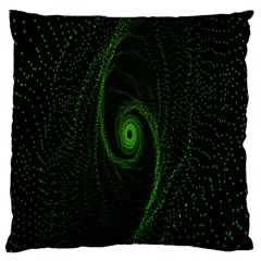 Space Green Hypnotizing Tunnel Animation Hole Polka Green Large Flano Cushion Case (two Sides) by Mariart
