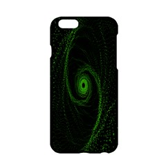 Space Green Hypnotizing Tunnel Animation Hole Polka Green Apple Iphone 6/6s Hardshell Case by Mariart