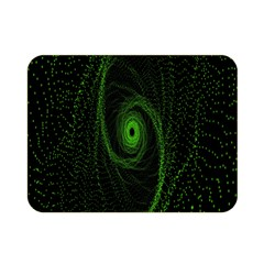 Space Green Hypnotizing Tunnel Animation Hole Polka Green Double Sided Flano Blanket (mini)  by Mariart