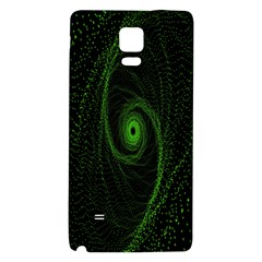 Space Green Hypnotizing Tunnel Animation Hole Polka Green Galaxy Note 4 Back Case by Mariart