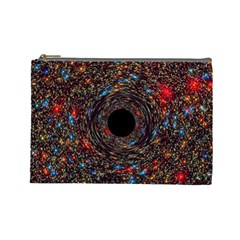 Space Star Light Black Hole Cosmetic Bag (large)  by Mariart