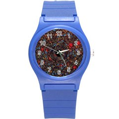 Space Star Light Black Hole Round Plastic Sport Watch (s) by Mariart