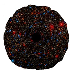 Space Star Light Black Hole Large 18  Premium Flano Round Cushions by Mariart