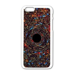Space Star Light Black Hole Apple Iphone 6/6s White Enamel Case by Mariart
