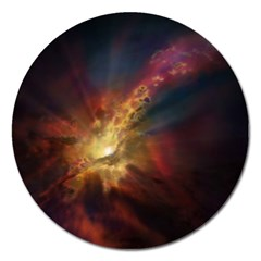 Sun Light Galaxy Magnet 5  (round) by Mariart