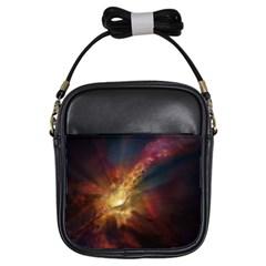 Sun Light Galaxy Girls Sling Bags by Mariart