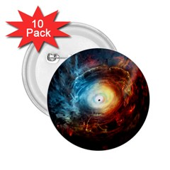 Supermassive Black Hole Galaxy Is Hidden Behind Worldwide Network 2 25  Buttons (10 Pack)  by Mariart