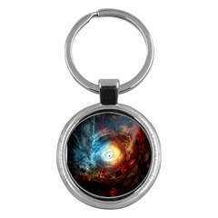 Supermassive Black Hole Galaxy Is Hidden Behind Worldwide Network Key Chains (round)  by Mariart