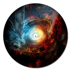 Supermassive Black Hole Galaxy Is Hidden Behind Worldwide Network Magnet 5  (round) by Mariart