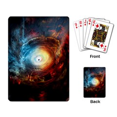 Supermassive Black Hole Galaxy Is Hidden Behind Worldwide Network Playing Card