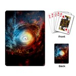 Supermassive Black Hole Galaxy Is Hidden Behind Worldwide Network Playing Card Back