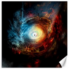 Supermassive Black Hole Galaxy Is Hidden Behind Worldwide Network Canvas 12  X 12   by Mariart