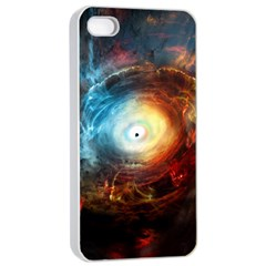 Supermassive Black Hole Galaxy Is Hidden Behind Worldwide Network Apple Iphone 4/4s Seamless Case (white) by Mariart