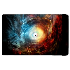 Supermassive Black Hole Galaxy Is Hidden Behind Worldwide Network Apple Ipad 3/4 Flip Case by Mariart
