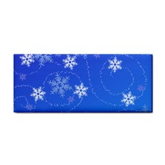 Winter Blue Snowflakes Rain Cool Cosmetic Storage Cases by Mariart