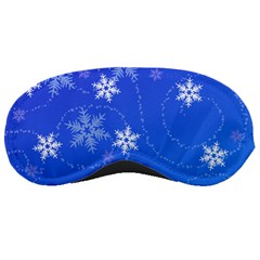 Winter Blue Snowflakes Rain Cool Sleeping Masks by Mariart