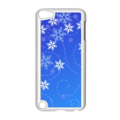 Winter Blue Snowflakes Rain Cool Apple Ipod Touch 5 Case (white) by Mariart
