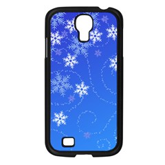 Winter Blue Snowflakes Rain Cool Samsung Galaxy S4 I9500/ I9505 Case (black) by Mariart