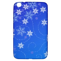 Winter Blue Snowflakes Rain Cool Samsung Galaxy Tab 3 (8 ) T3100 Hardshell Case  by Mariart