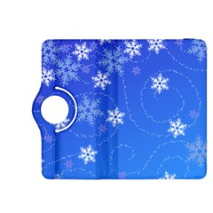 Winter Blue Snowflakes Rain Cool Kindle Fire Hdx 8 9  Flip 360 Case by Mariart