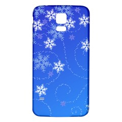 Winter Blue Snowflakes Rain Cool Samsung Galaxy S5 Back Case (white) by Mariart