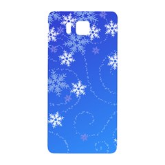 Winter Blue Snowflakes Rain Cool Samsung Galaxy Alpha Hardshell Back Case by Mariart