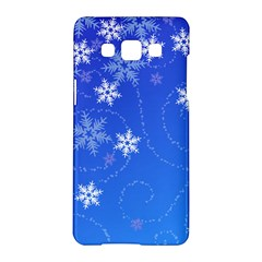 Winter Blue Snowflakes Rain Cool Samsung Galaxy A5 Hardshell Case  by Mariart