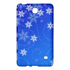 Winter Blue Snowflakes Rain Cool Samsung Galaxy Tab 4 (8 ) Hardshell Case  by Mariart