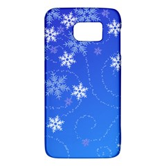 Winter Blue Snowflakes Rain Cool Galaxy S6 by Mariart