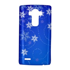 Winter Blue Snowflakes Rain Cool Lg G4 Hardshell Case by Mariart