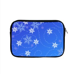 Winter Blue Snowflakes Rain Cool Apple Macbook Pro 15  Zipper Case by Mariart