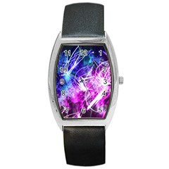 Space Galaxy Purple Blue Barrel Style Metal Watch by Mariart