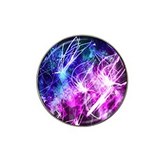 Space Galaxy Purple Blue Hat Clip Ball Marker by Mariart