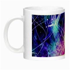 Space Galaxy Purple Blue Night Luminous Mugs by Mariart